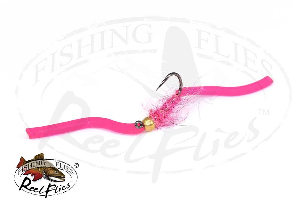 Shaggy Squirmy Wormy Pink