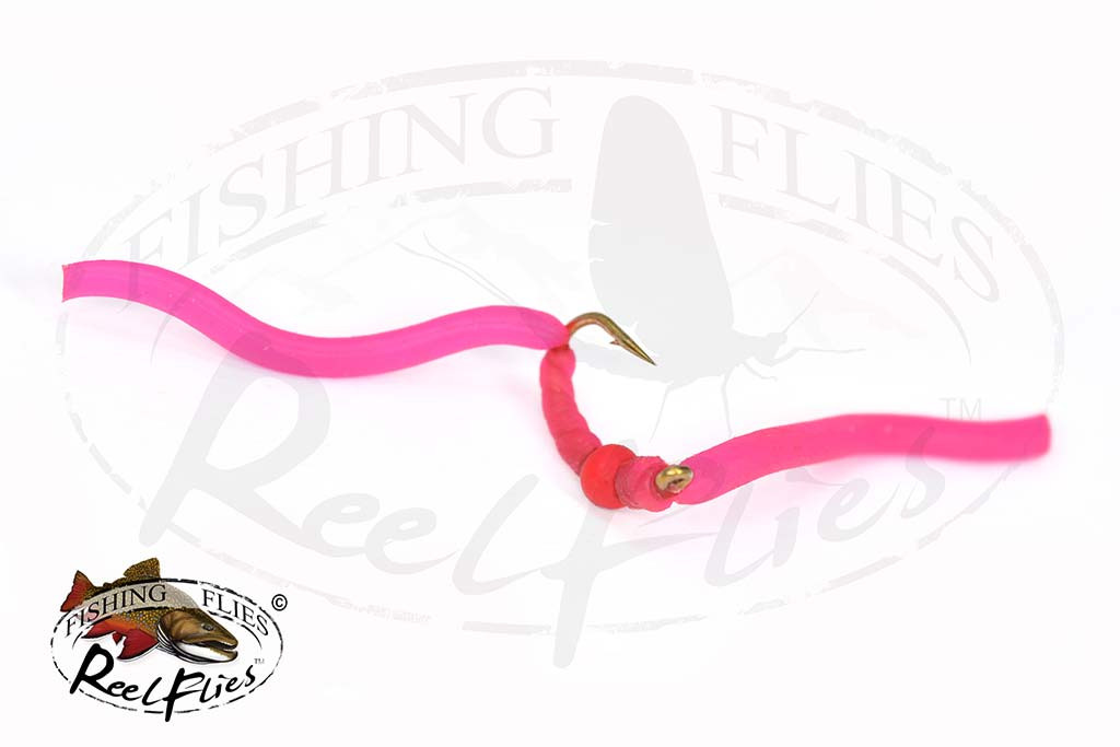 Pink Slinky Worm Fly