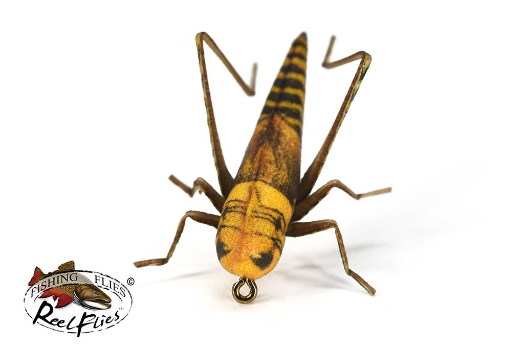 Realistic Hopper Fly Gold & Brown