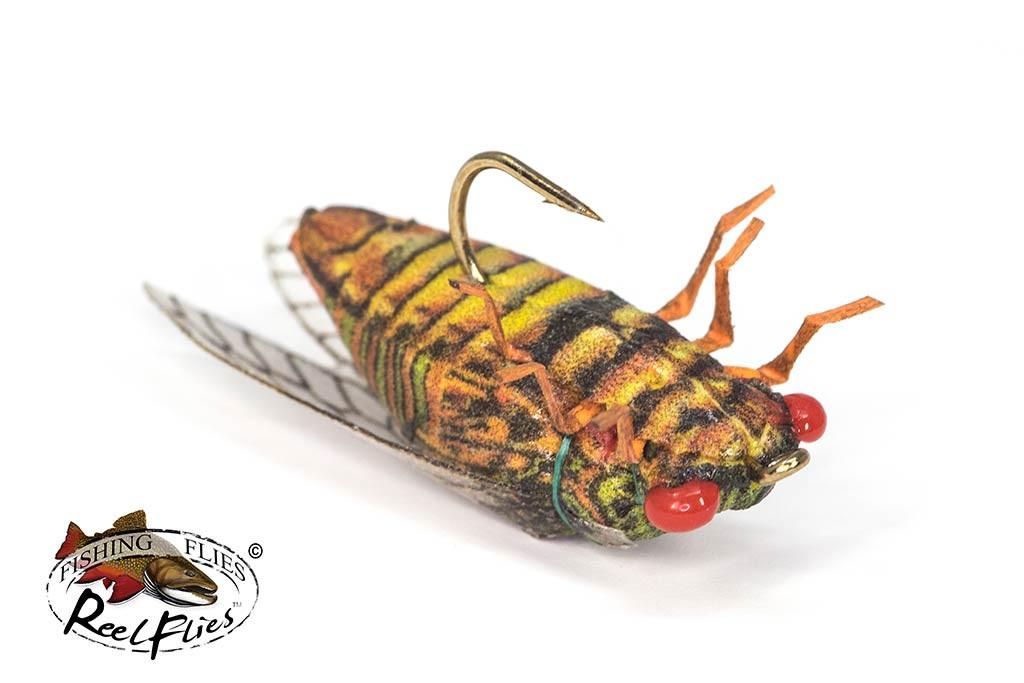Life-like Cicada Fly Olive