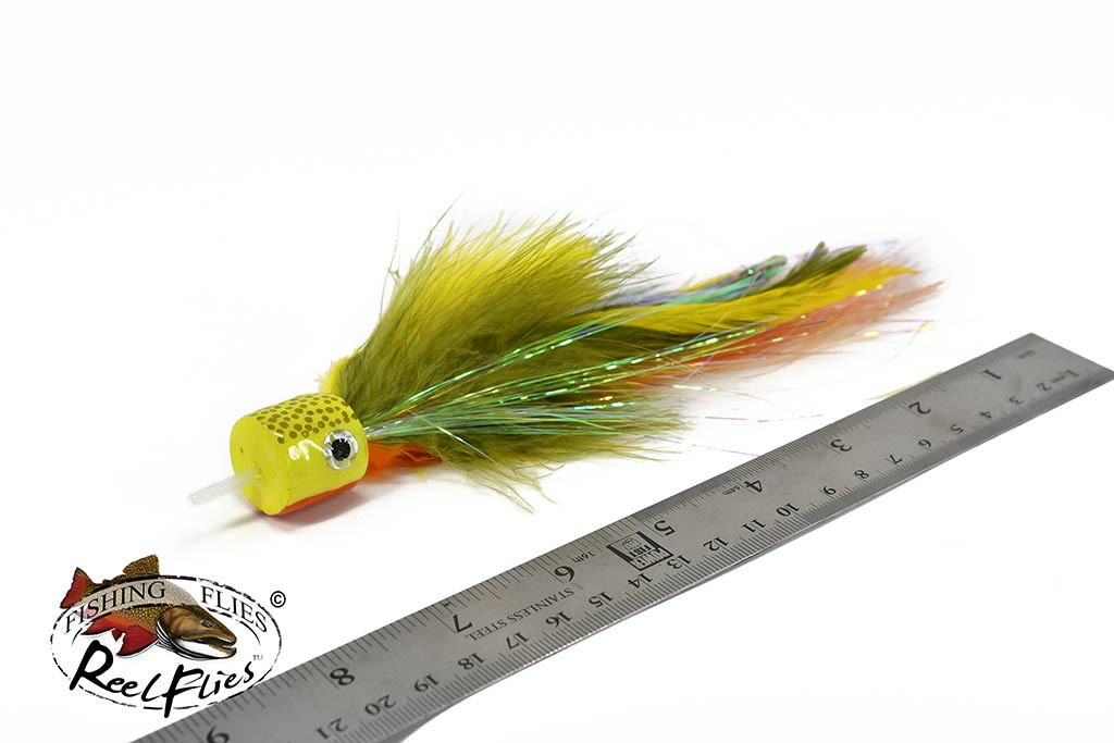 Salty Jacks Popper Fly Yellow Perch