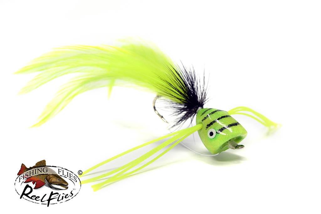 ReelFlies-Tiger-Popper-Chartreuse