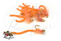 Flashy Squirmy Worm Orange