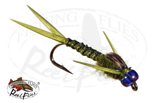 Rainbow Head Rh Olive Woven Stonefly