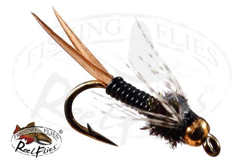 Beadhead Copper John Black