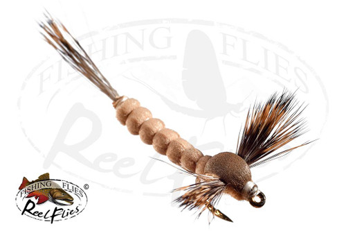 Extended Body Brown Tan Mayfly