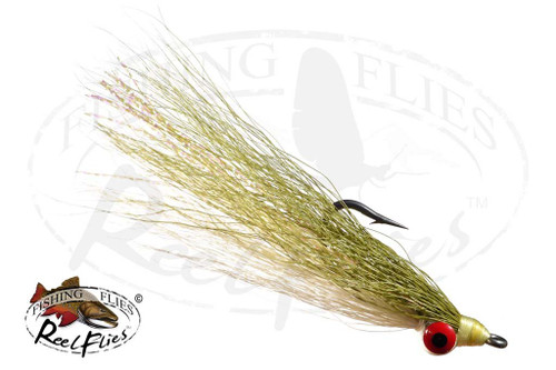 Clouser Minnow White-Olive