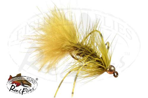 Olive Rubber Leg Bead Head Woolly Bugger
