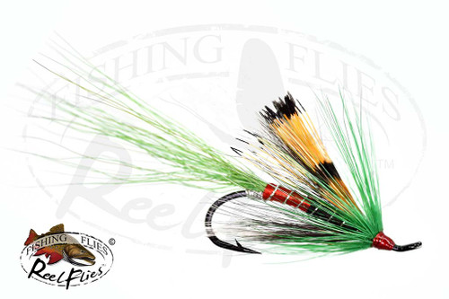 Allys Shrimp Green Salmon Fly