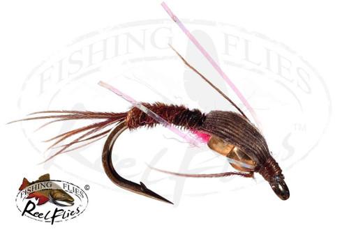 DBH Pheasant Tail Nymph Pink