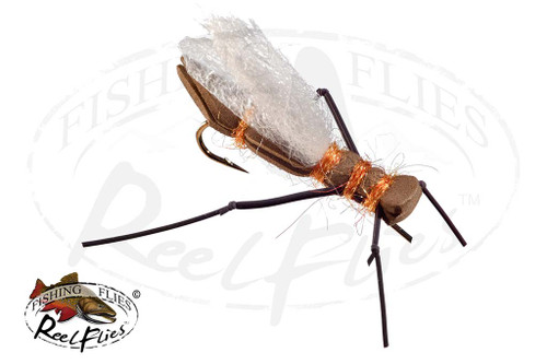 Brown Orange Foam Salmon Fly