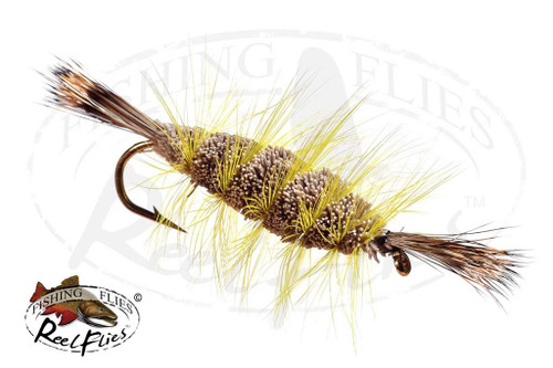 Bomber Brown Natural, Yellow Hackle, Natural Head & Tail