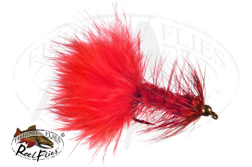 Beadhead Grizzly Bugger Red