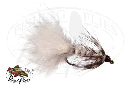 Beadhead Grizzly Bugger White
