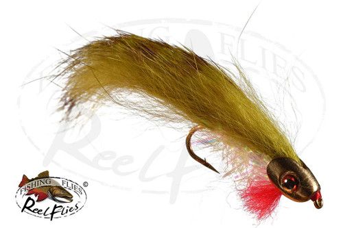 Boney Baitfish Olive Tiger Stripe