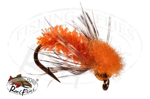 BH ReelFlies™️ Orange Caddis Fly