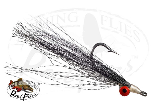Clouser Minnow Black & Silver