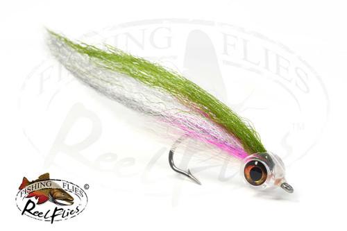 5 Dressed Bucktail Teaser Flies Fluke Flounder Striper Bass Fishing 2//0 131A