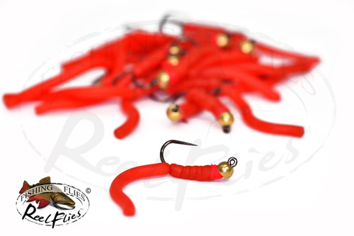 BH Squirm Worm Red