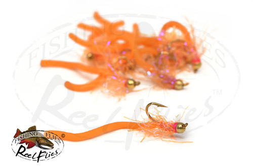 Flashy Squirmy Worm Orange