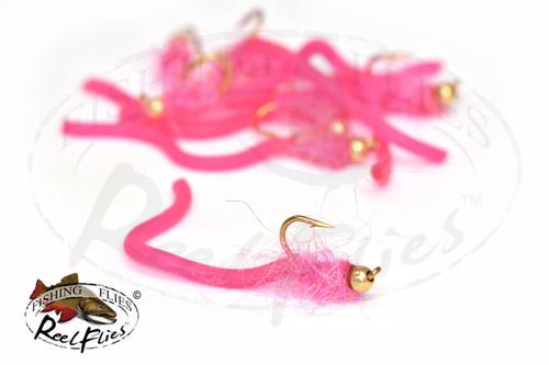 Fuzzy Squirmy Worm Pink