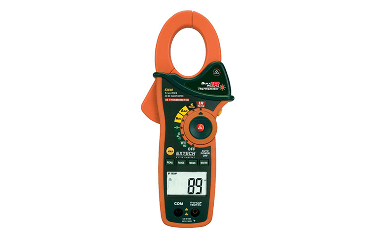 Extech Clamp Meter, AC/DC With Cat IV Rating - EX840