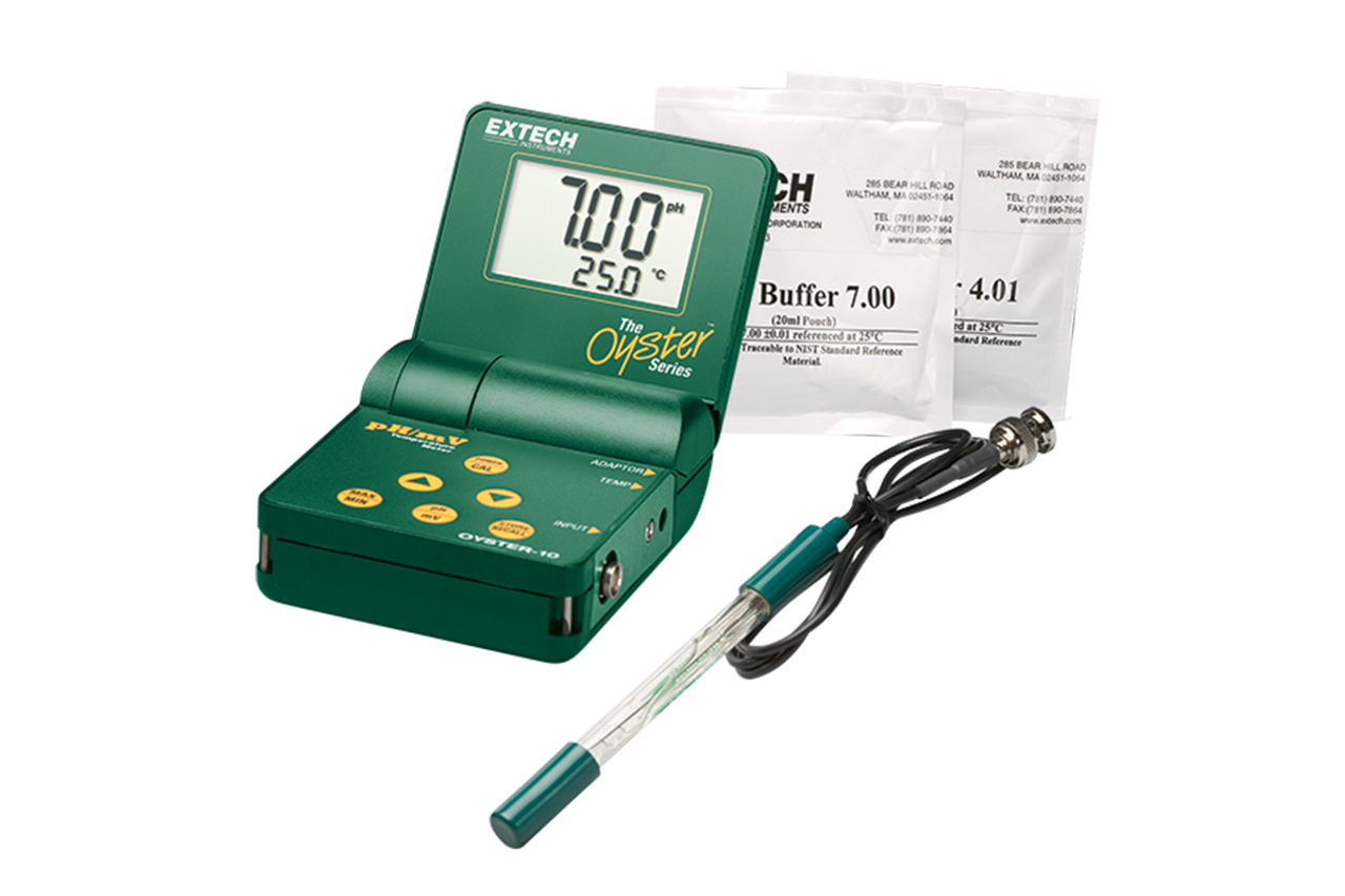 Extech Oyster Series pH/mV/Temp Meter Kit