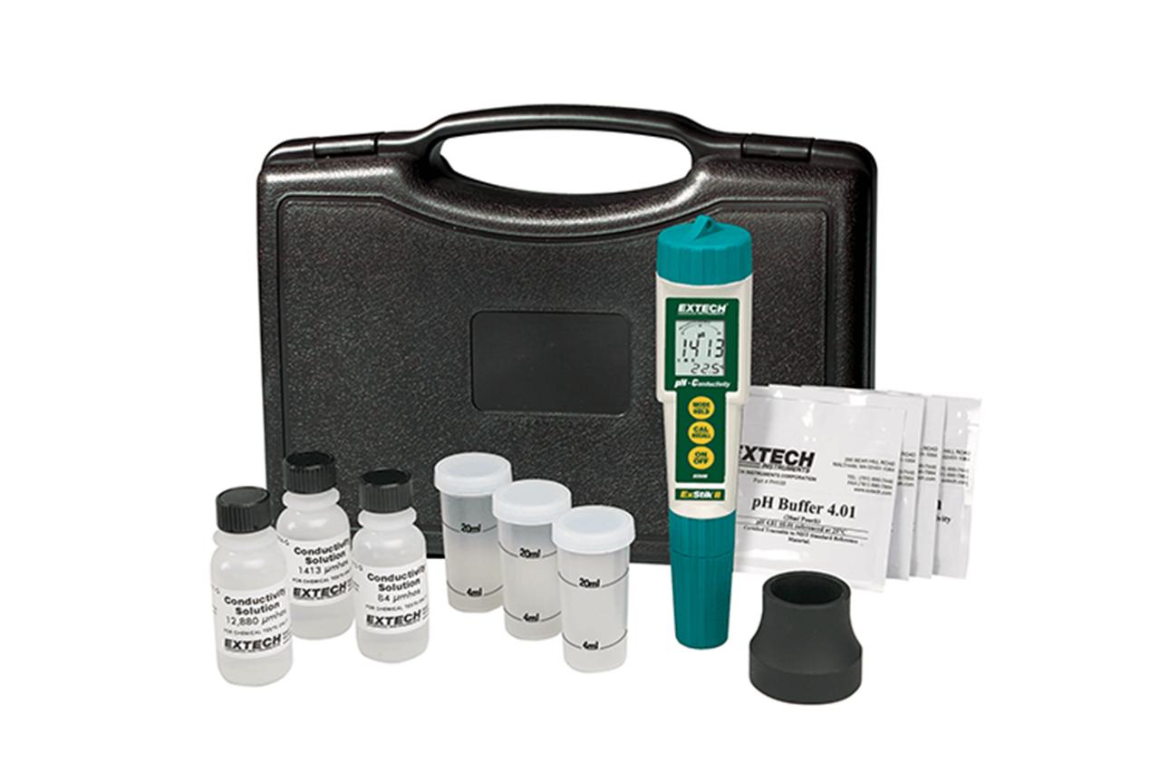 Extech Waterproof ExStik II pH/Conductivity Meter Kit