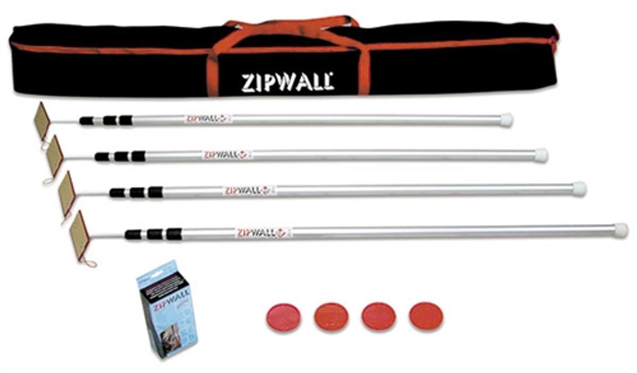ZipWall SLP 4-Pack, 12 ft Spring-Loaded Poles - SLP4 (Case Pack of 3)