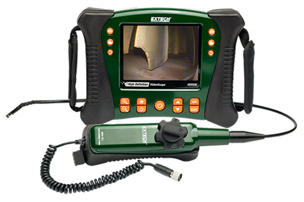 Extech HDV640: HD VideoScope with Handset/Articulating ProbeInspection Camera with Wired Handset & 6mm Semi-Rigid, Articulating (320°) Probe (1m)