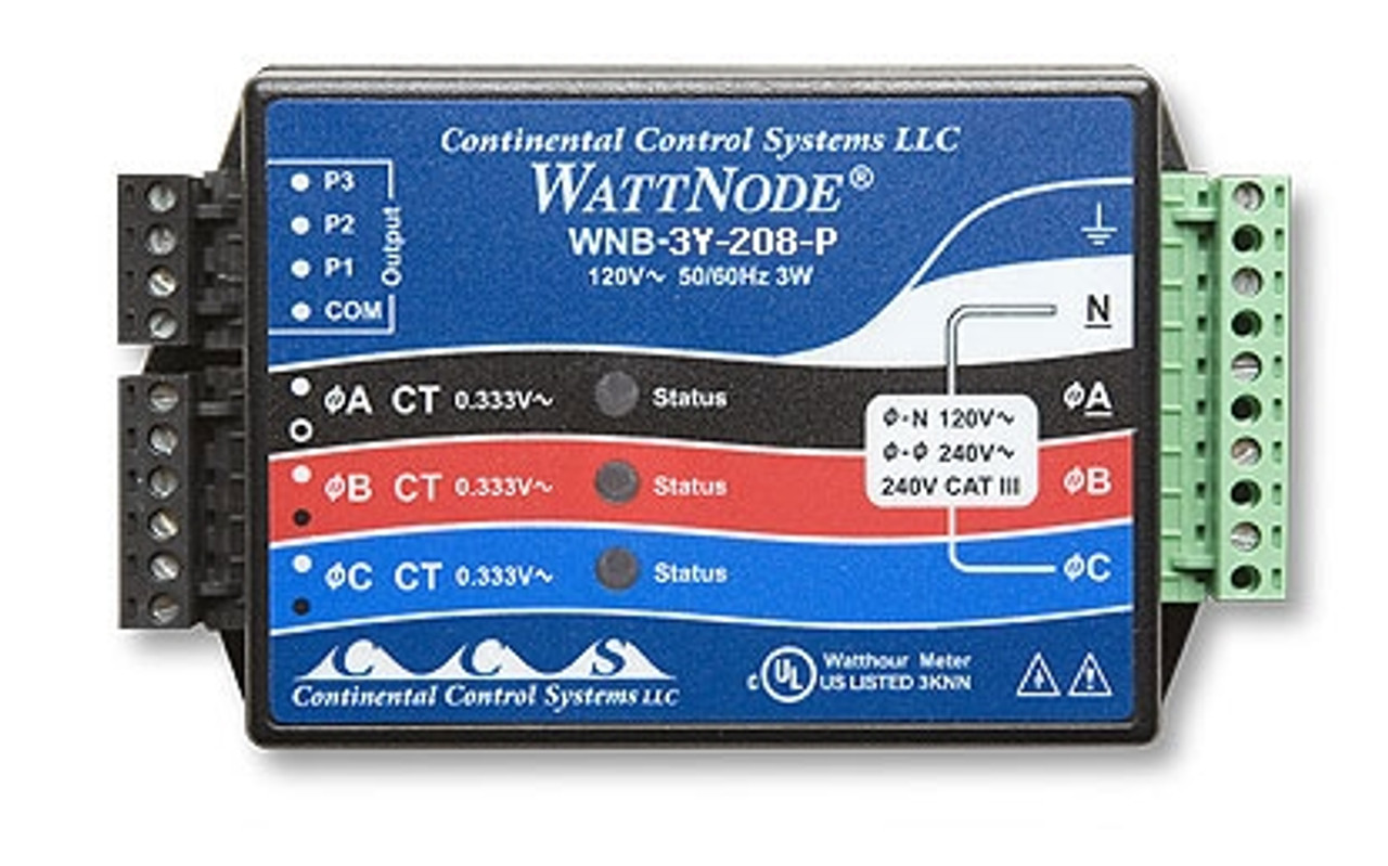 Onset kWh Xducer 208/240VAC Wye (Pulse out) - T-WNB-3Y-208