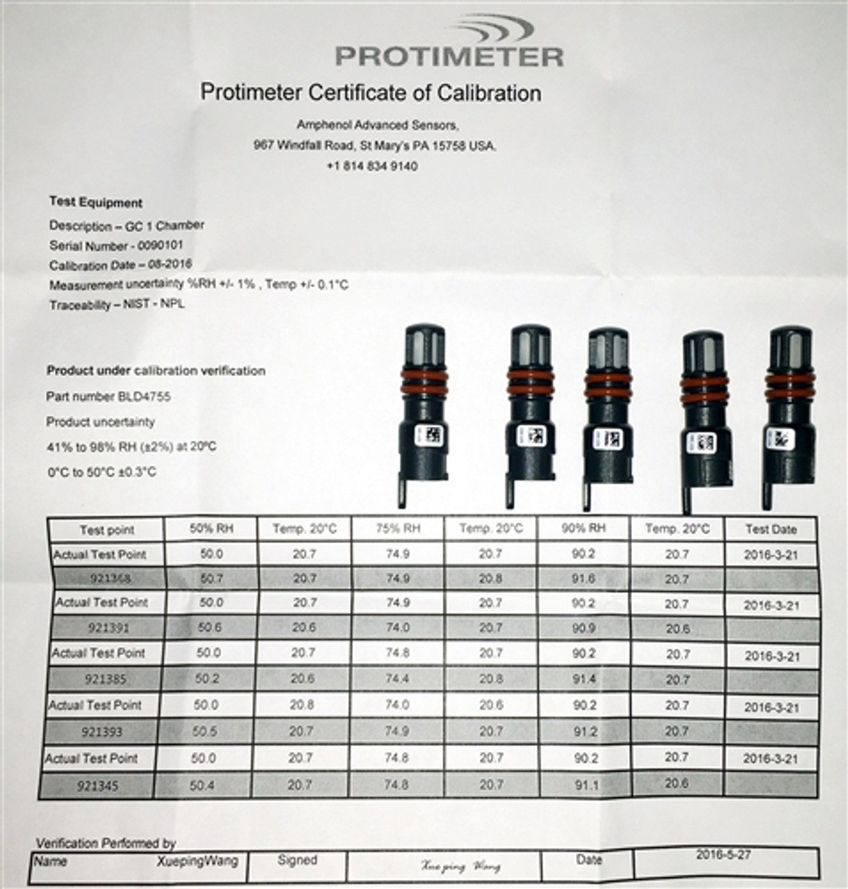 Protimeter Mini Hygrostick Pack of 5 With Traceable Cert. - BLD4755-5
