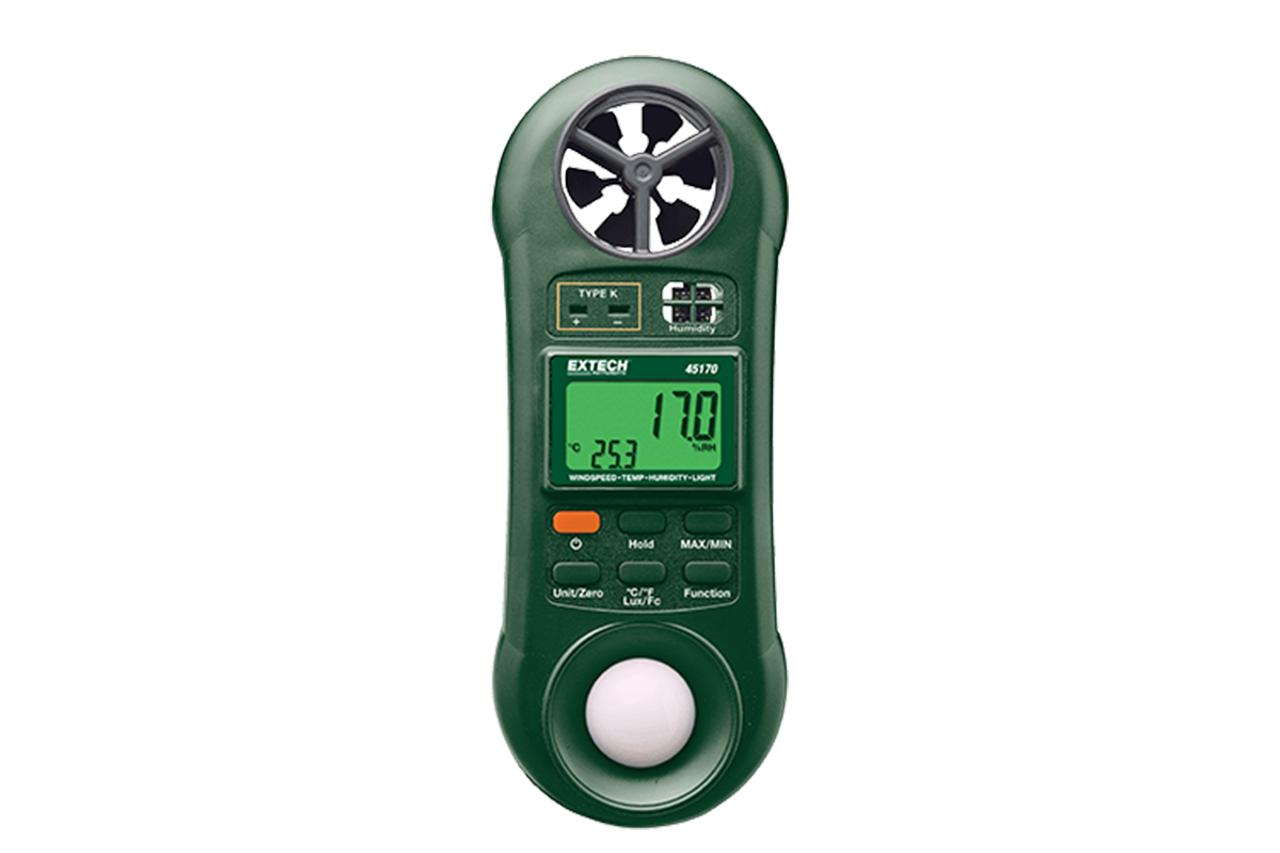 Extech Hygro-Thermo Anemometer Light Meter