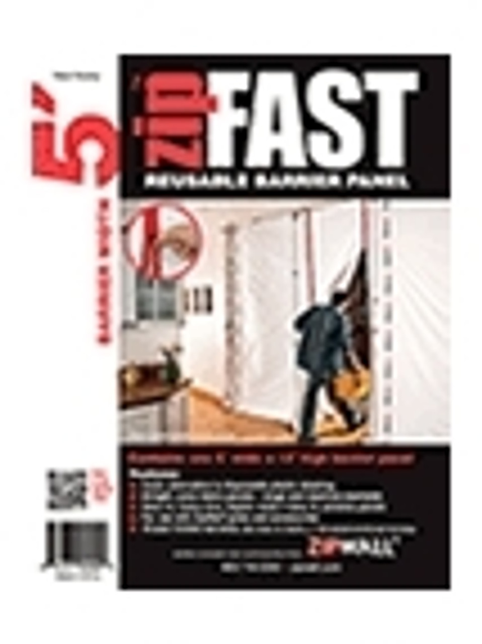 ZipFast 5 Reusable Barrier Panel - ZF5 (Case Pack of 4)