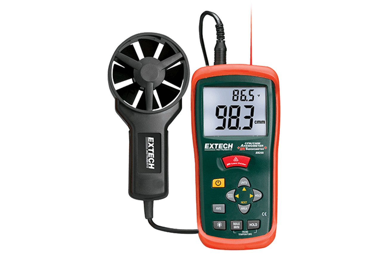 Extech Heavy Duty CFM Mini-Metal Vane Anemometer 1