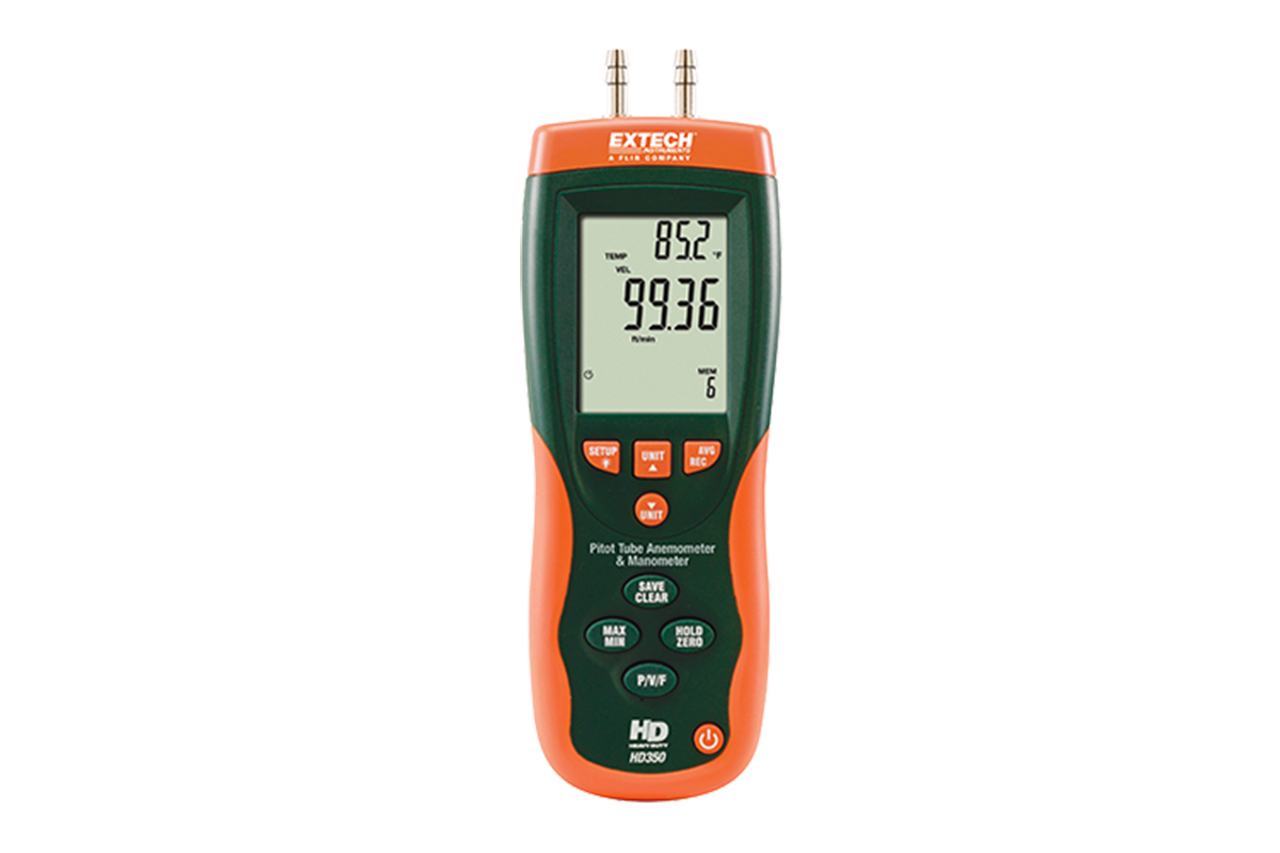 Extech HD350: Pitot Tube Anemometer + Differential Manometer