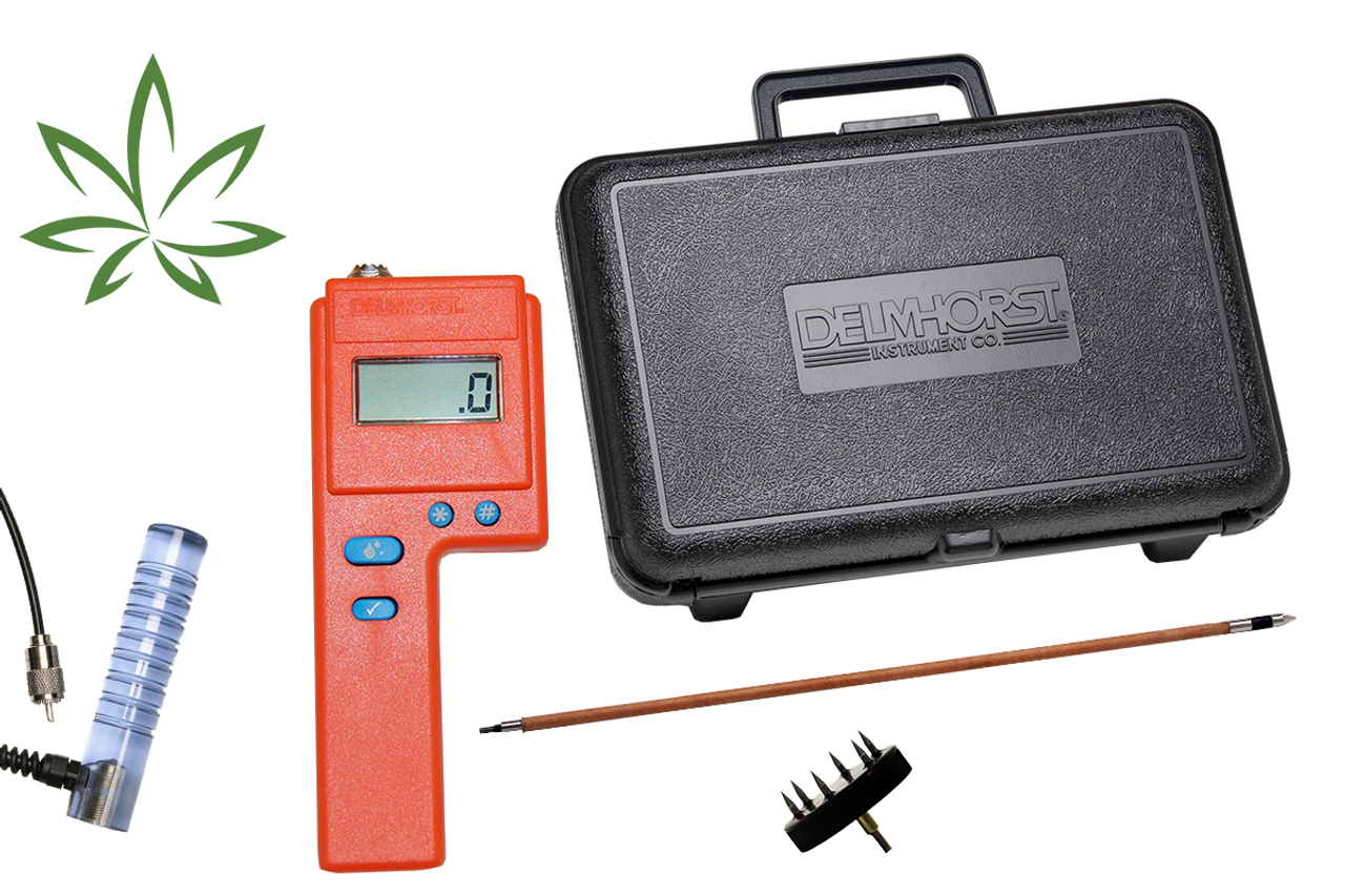 """Delmhorst F2000 HEMP Deluxe Package Hay Moisture Meter WITH 18"""" Prod"""