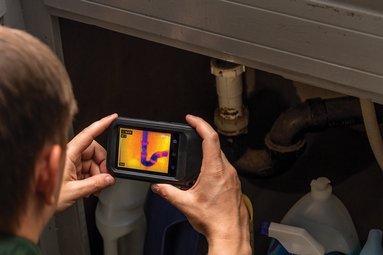 FLIR C3-X Compact Thermal Camera w/MSX and WiFi/Cloud Connectivity 128 x 96 Resolution/9Hz - 90501-0201