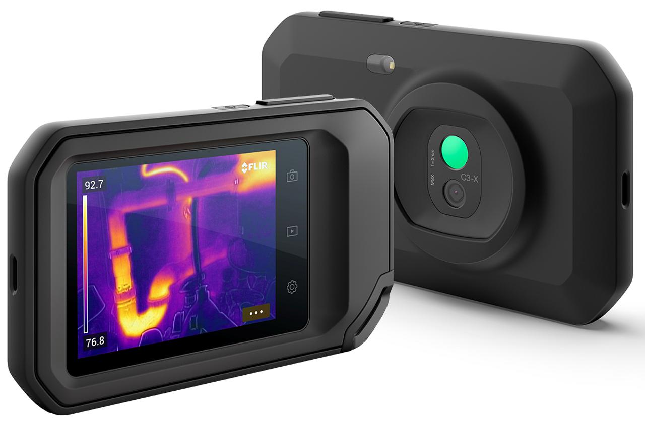 FLIR C3-X (NO Wi-Fi) Compact Thermal Camera w/MSX 128 x 96 Resolution/9Hz - 90501-0101