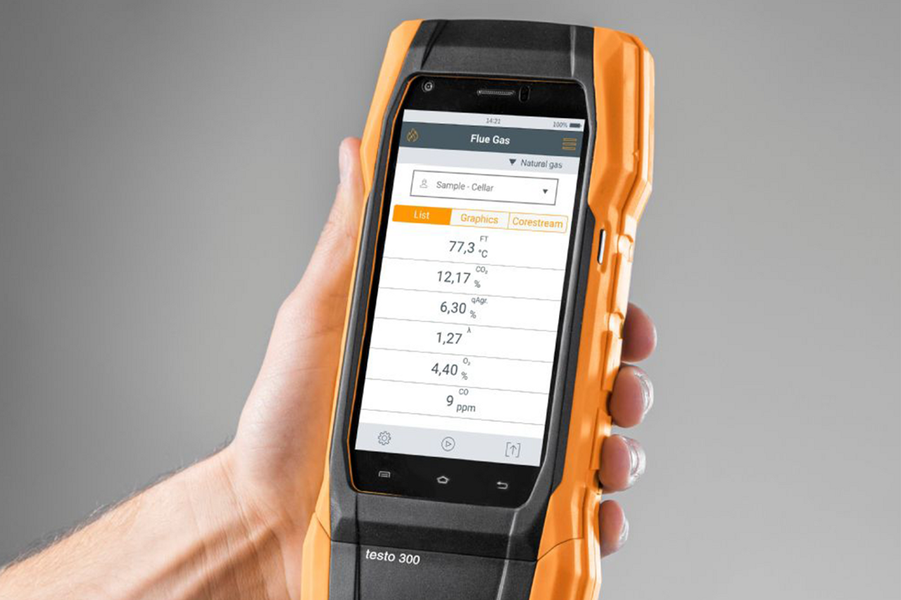 Testo 300 Residential / Commercial Analyzer Kit with printer (O2 & CO installed)  0564 3002 83