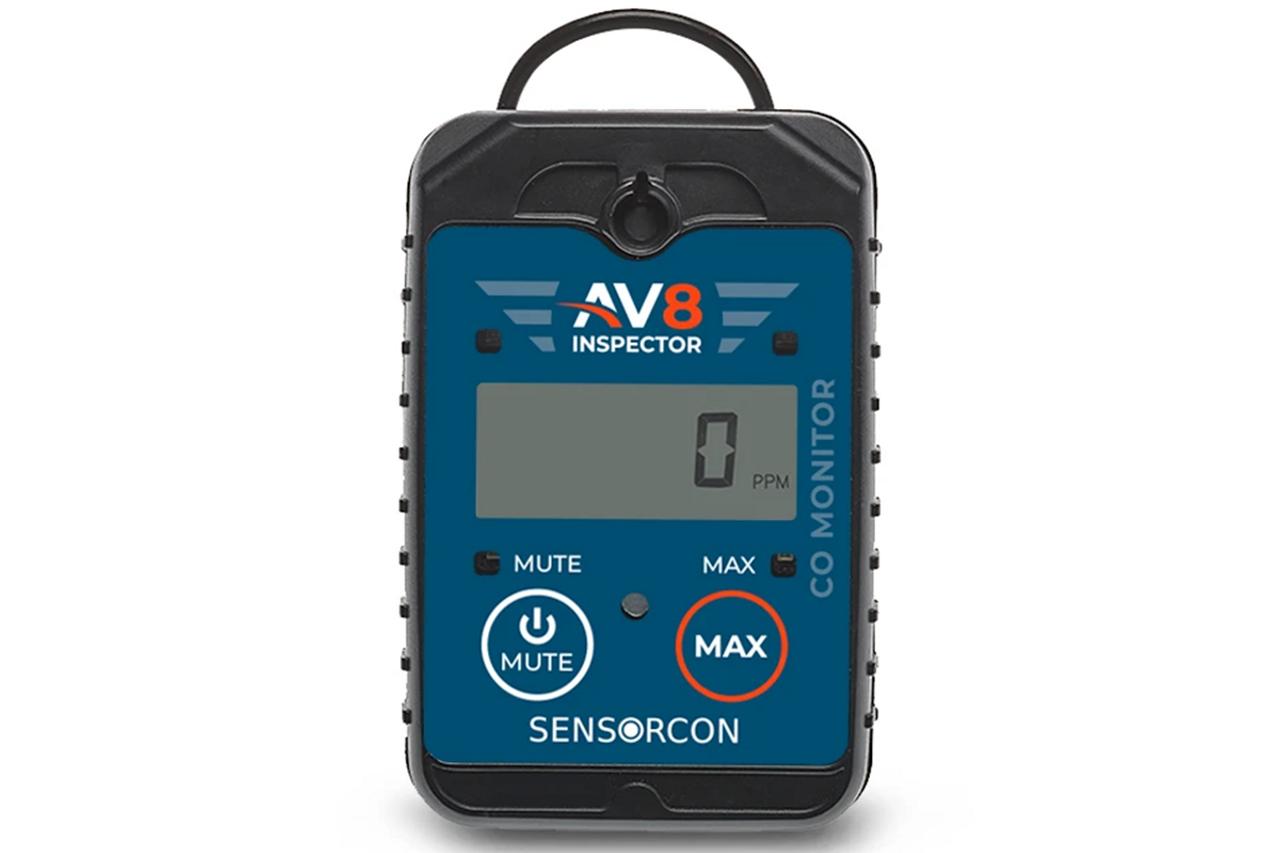 Sensorcon AV8 Inspector Carbon Monoxide Monitor for Aviation - AV8-CO-01