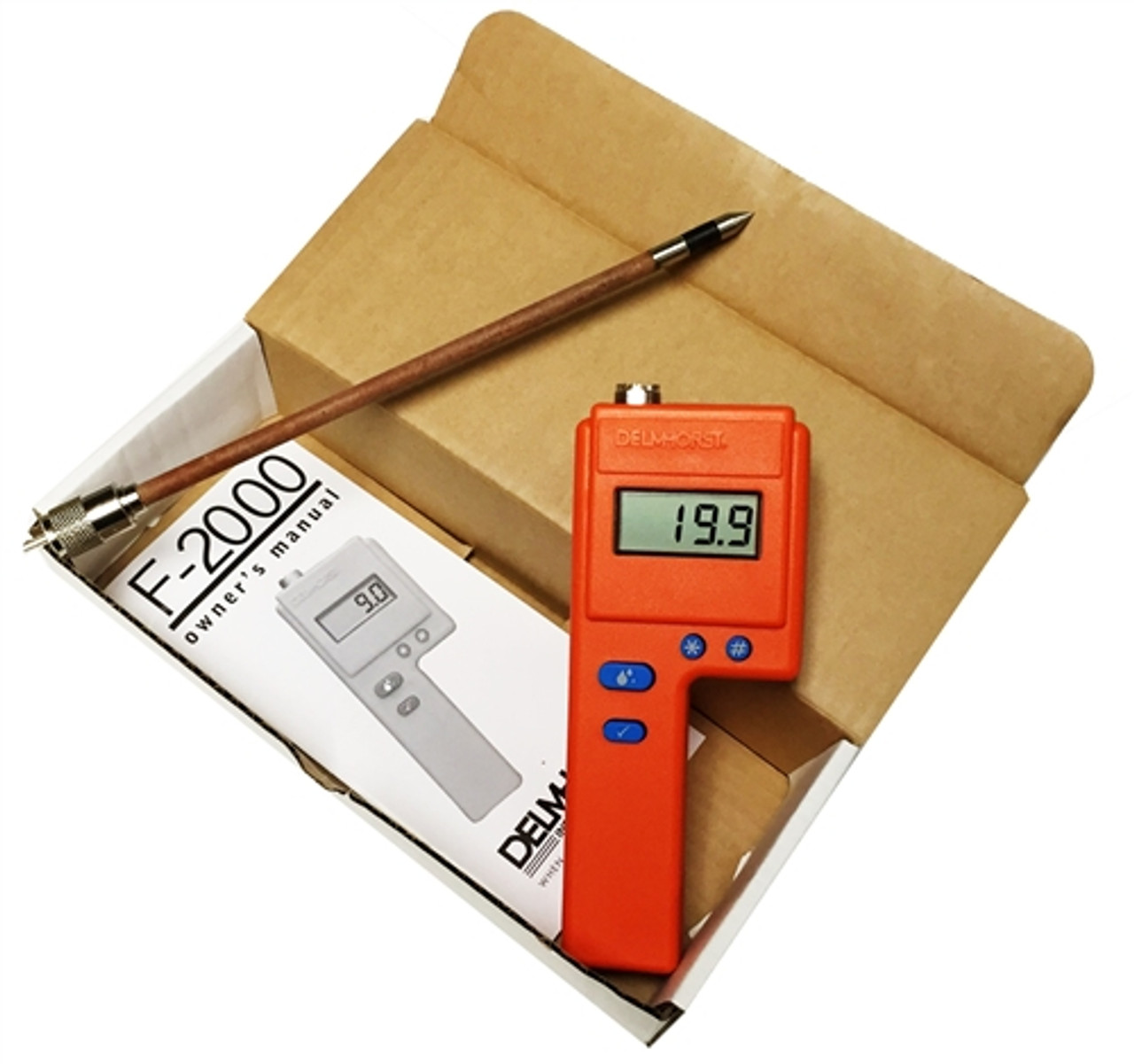 """Delmhorst F2000 Value Package Hay Moisture Meter with 10"""" 1235 Prod"""