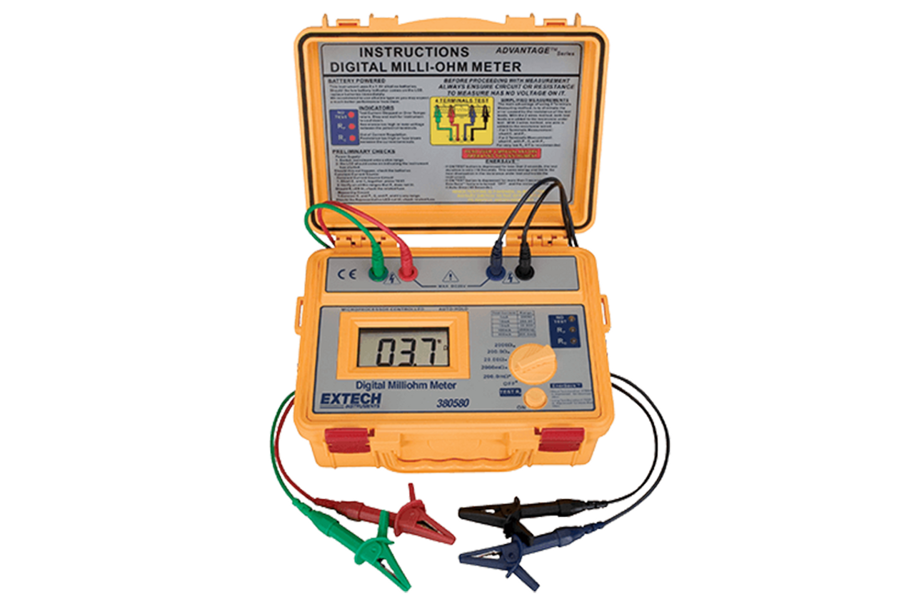 Extech Battery Powered Milliohm Meter