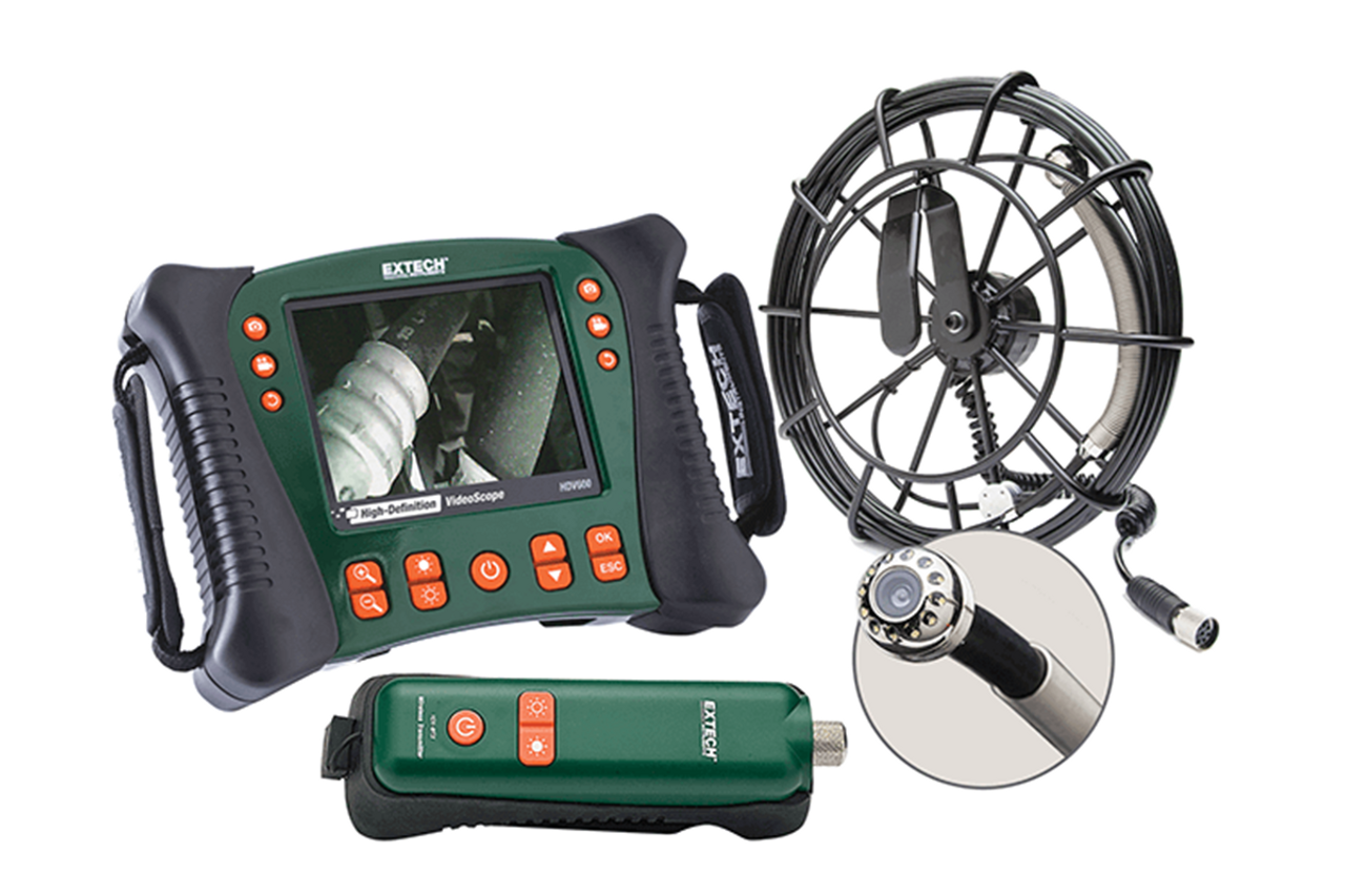 Extech Wireless Plumbing Videoscope Kit W/ 10M - HDV650W-10G