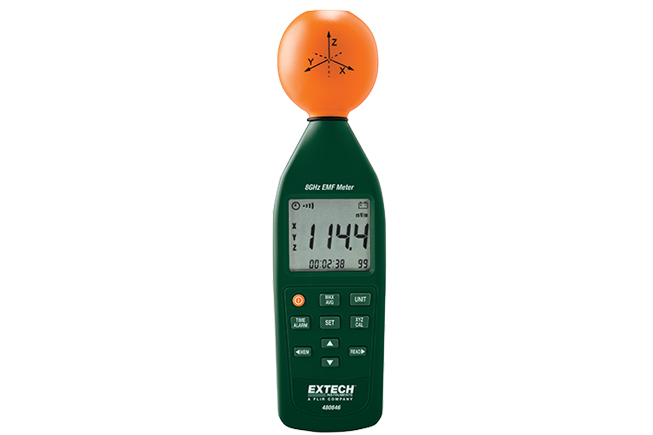 Extech 480846 8GHz RF EMF Electromagnetic Field Strength Meter
