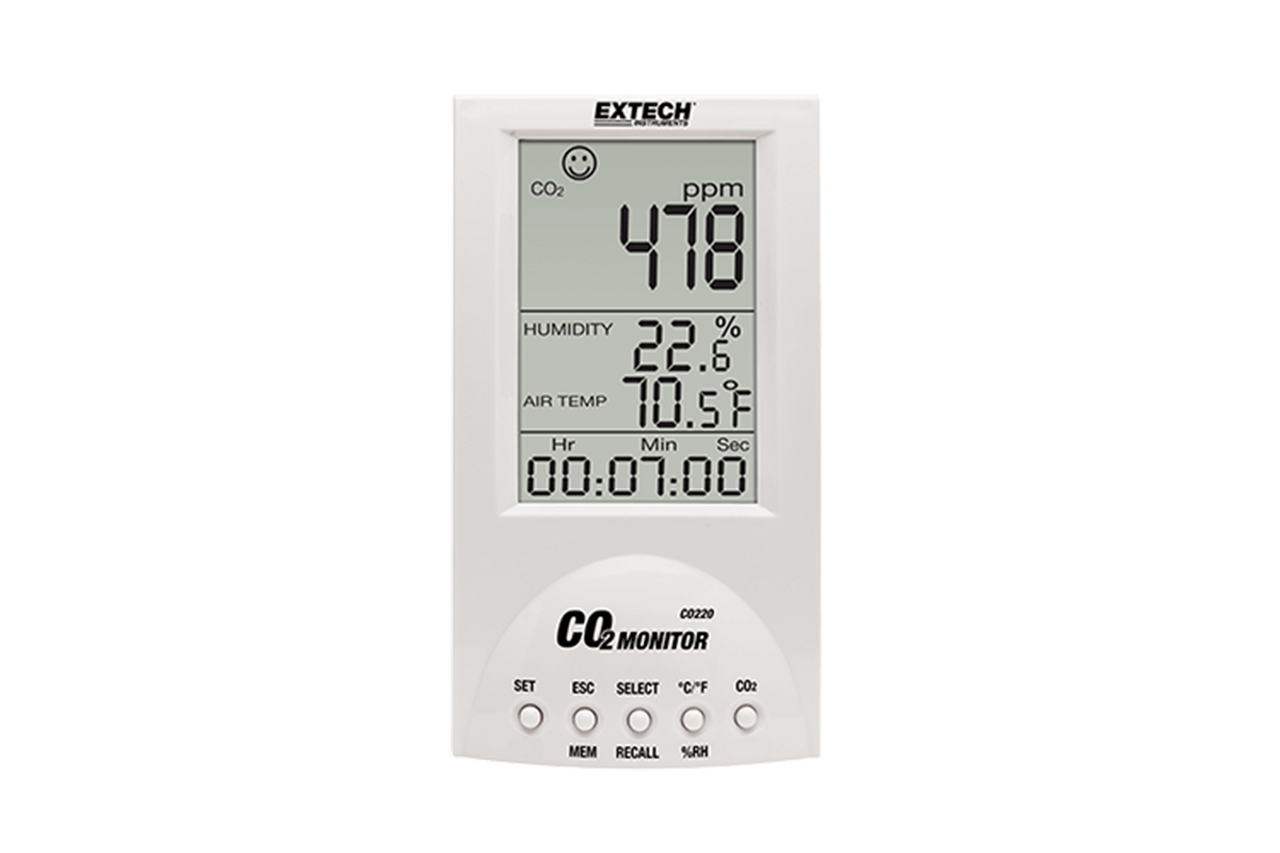Extech Desktop Carbon Dioxide Monitor - CO220