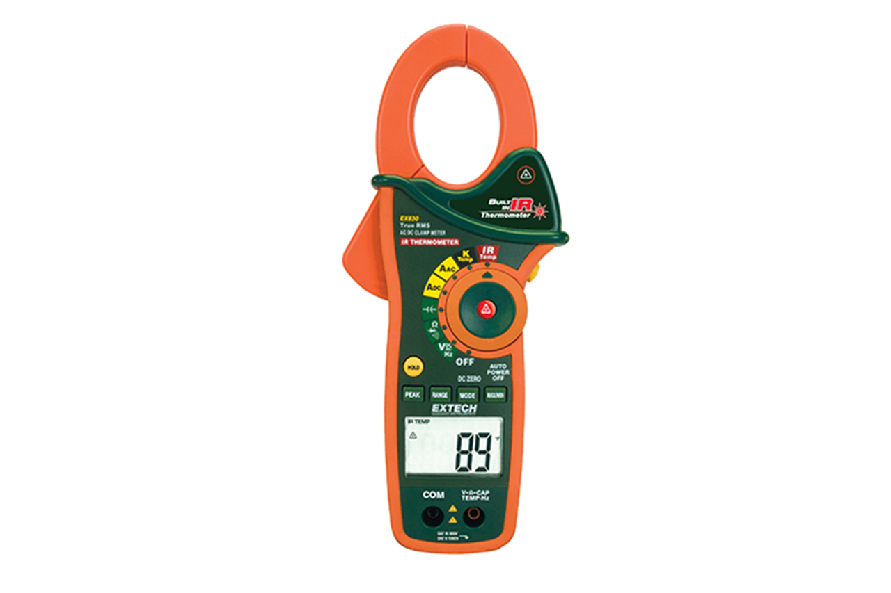 Extech 1000A AC/DC True RMS Clamp/DMM+ IR Thermometer