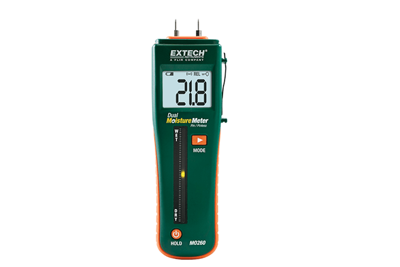 Extech MO260: Combination Pin/Pinless Moisture Meter