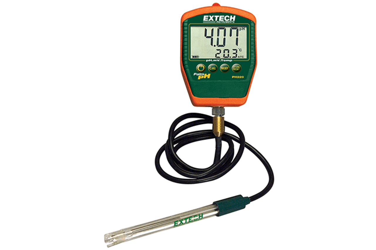 Extech Waterproof Palm pH Meter w/Cabled Electrode