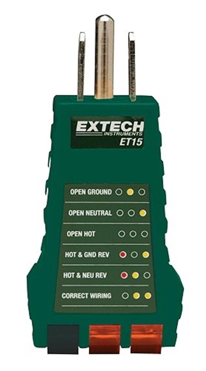 Extech ET15 Extech Receptacle Tester